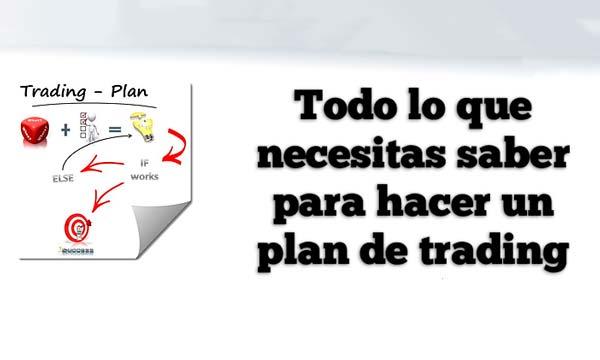 hacer un plan de trading