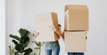 ordenar cómodamente utilizando cajas de cartón